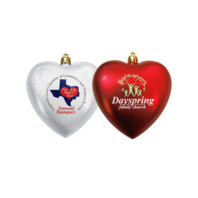 Heart Shaped Shatterproof Ornament