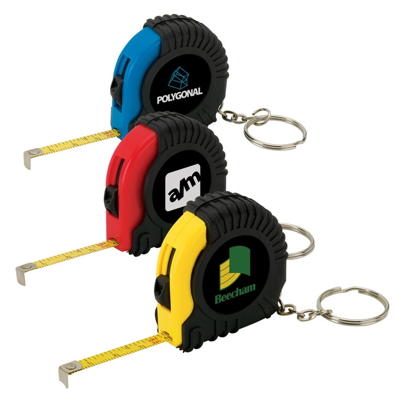 Mini Tape Measure Key Ring