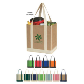 Non-Woven Two Tone Shopper Tote Bag