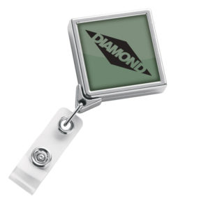 Chrome Diamond Badge Reel