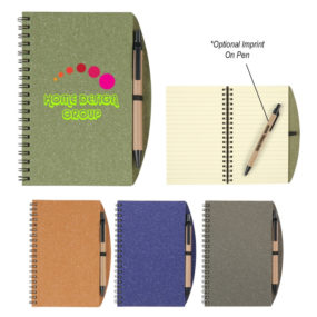 Eco-Inspired Spiral Notebook & Pen (5 x 7)