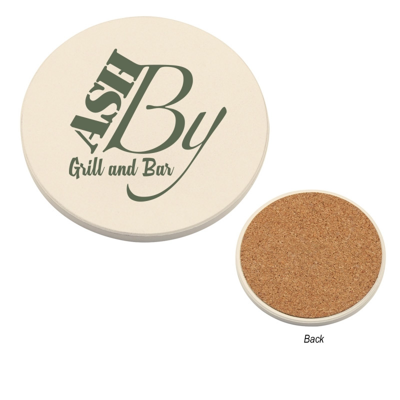 Round Absorbent Coaster