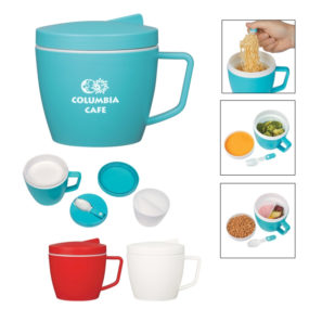 Thermal Mug With Spoon And Fork Set
