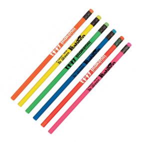 Neon Round Wooden Pencil