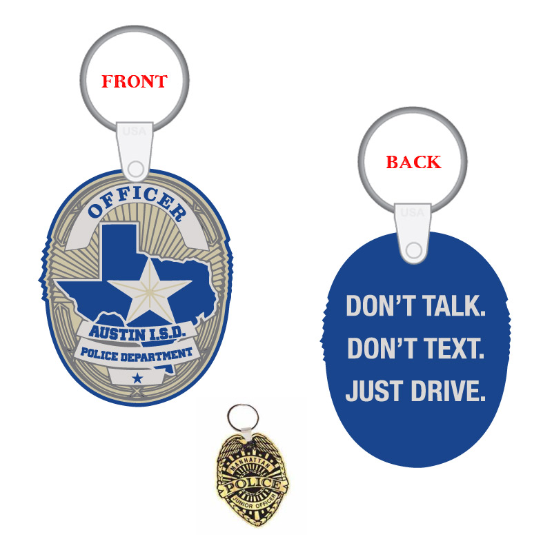 Custom Police Badge Key Tag
