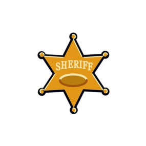 Sheriff Star Tattoo