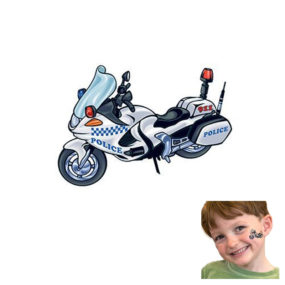 Police Motorcycle Tattoo