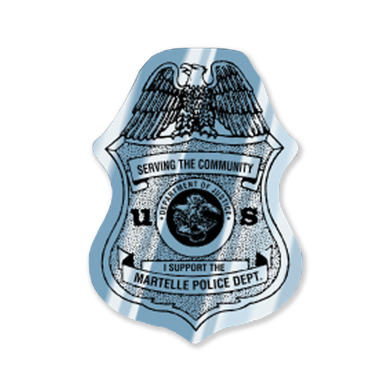 Silver Police Badge Sticker