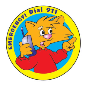 Emergency Dial 911 Sticker