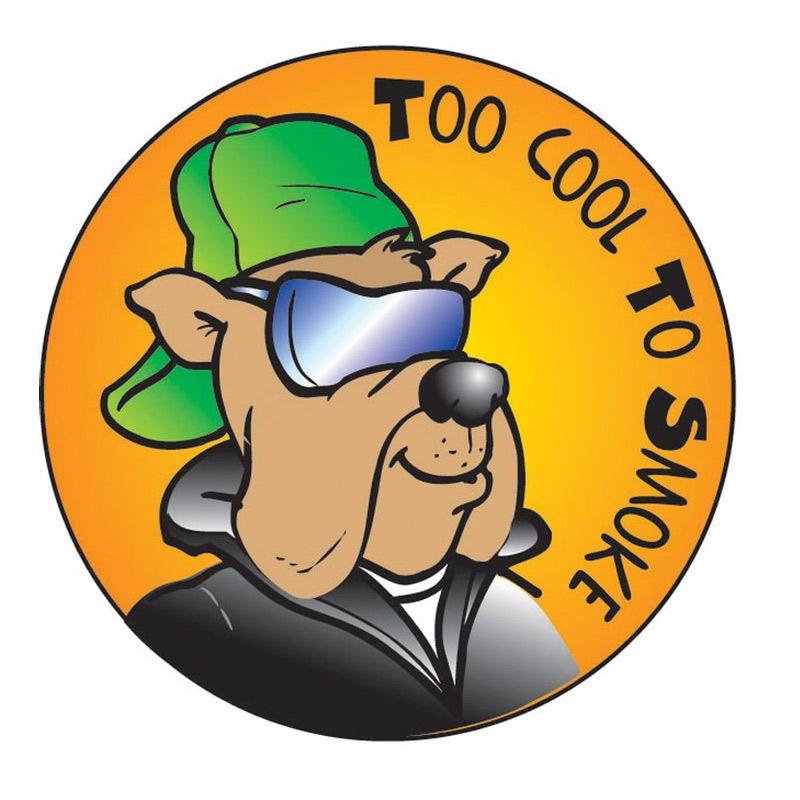 """To Cool To Smoke"" Sticker"