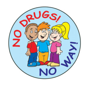 """No Drugs! No Way!"" Sticker"