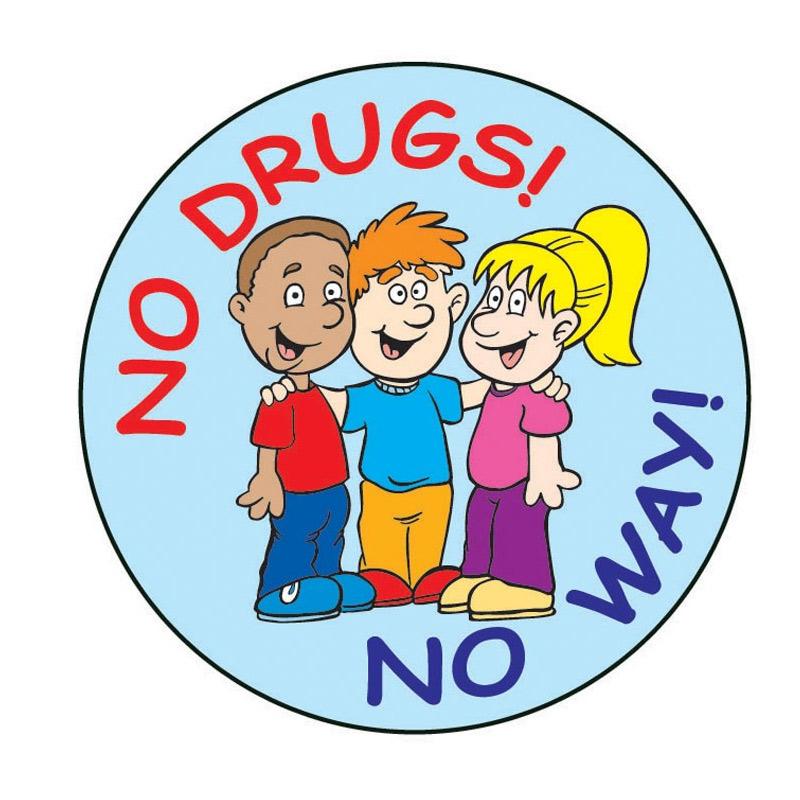 """No Drugs! No Way!"" Sticker"