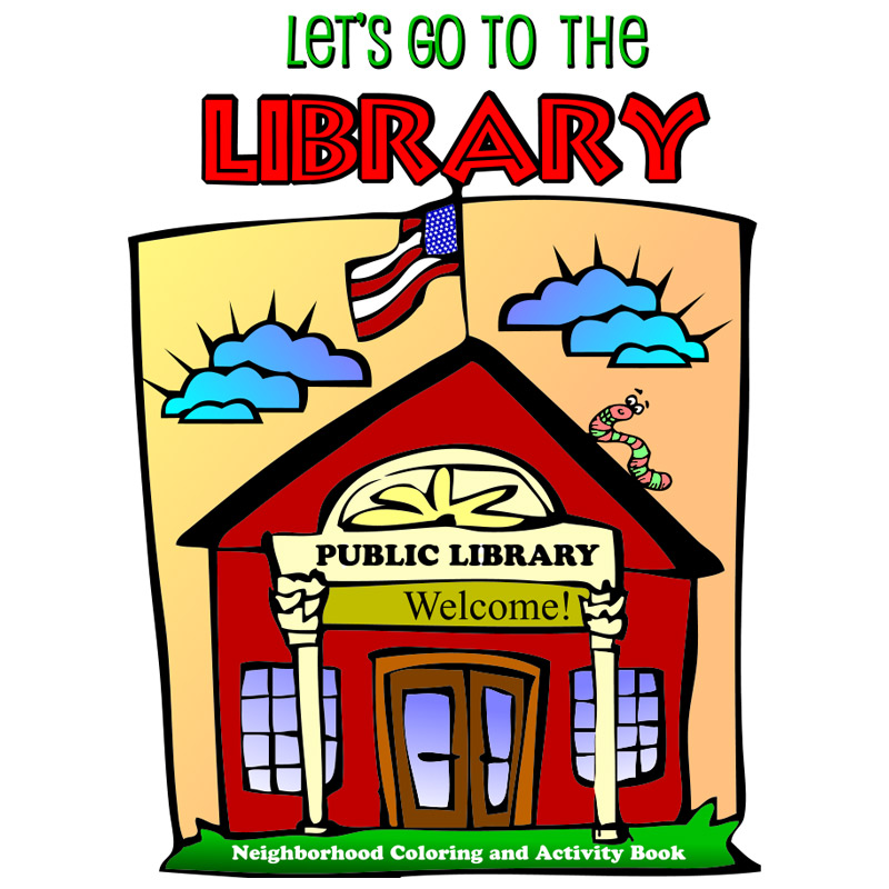 Let's go to the Library Coloring Book