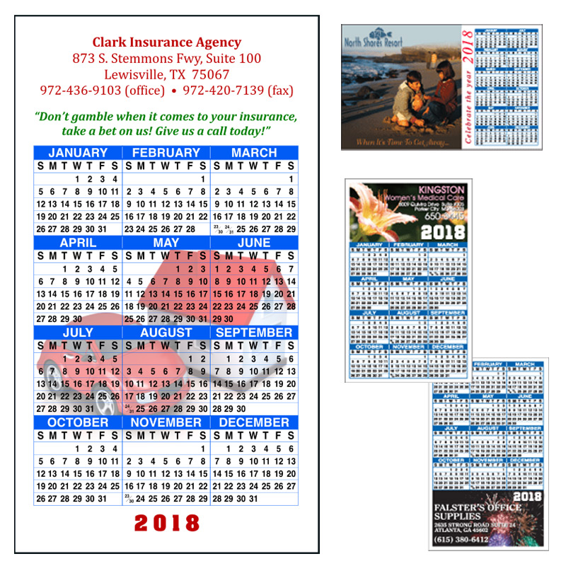 Full Color Calendar Magnets