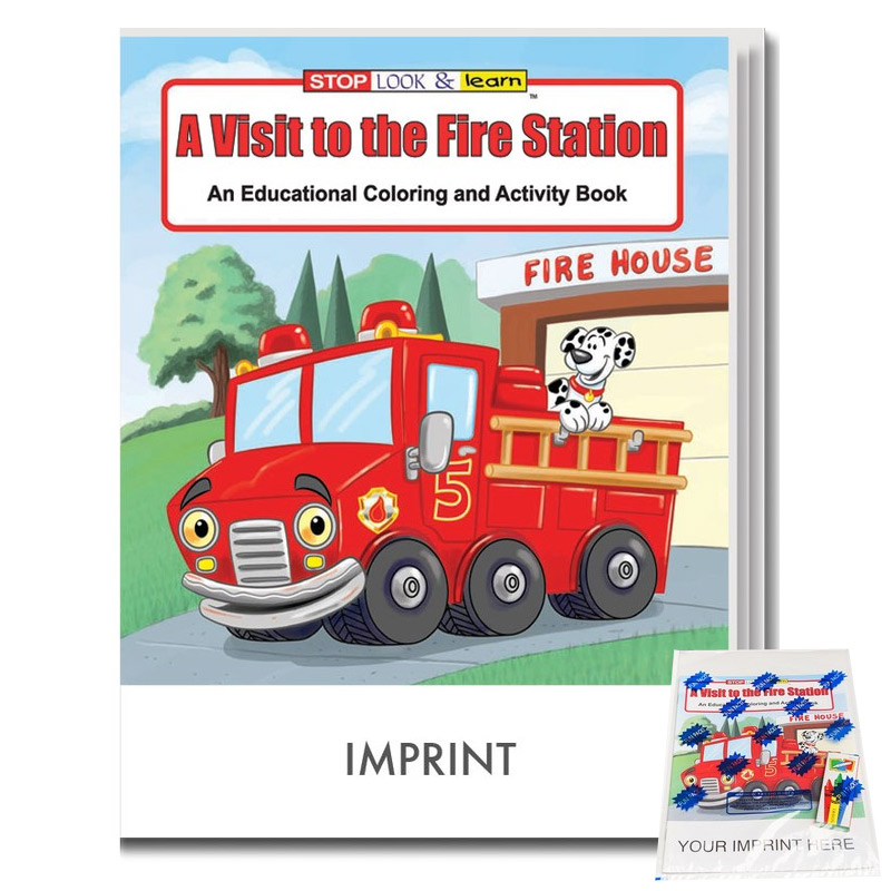 Visit to the Fire Station Coloring & Activity Book