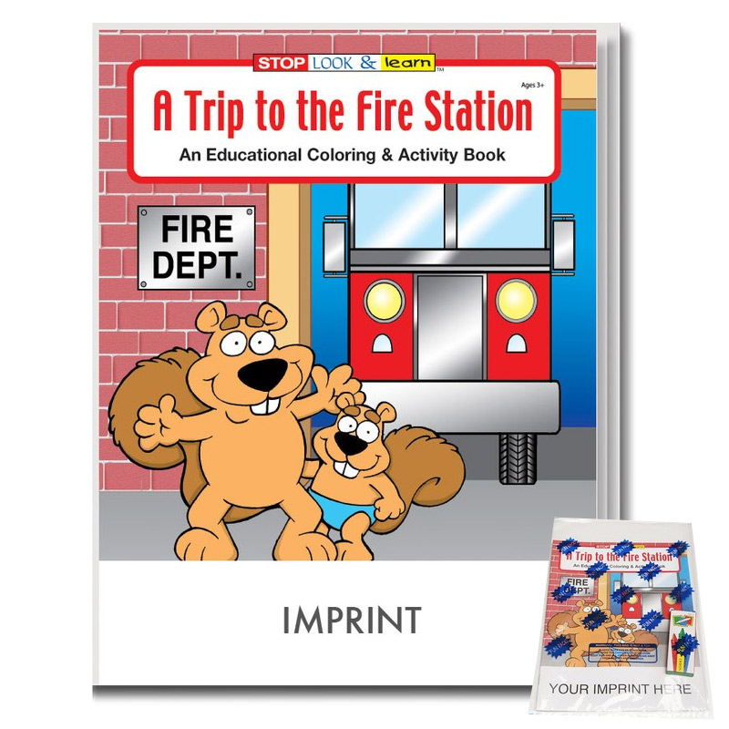 Trip to the Fire Station Coloring & Activity Book