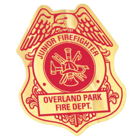 Junior Fire Fighter Badge Sticker
