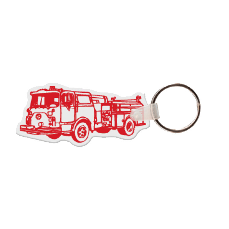 Fire Truck Key Tag