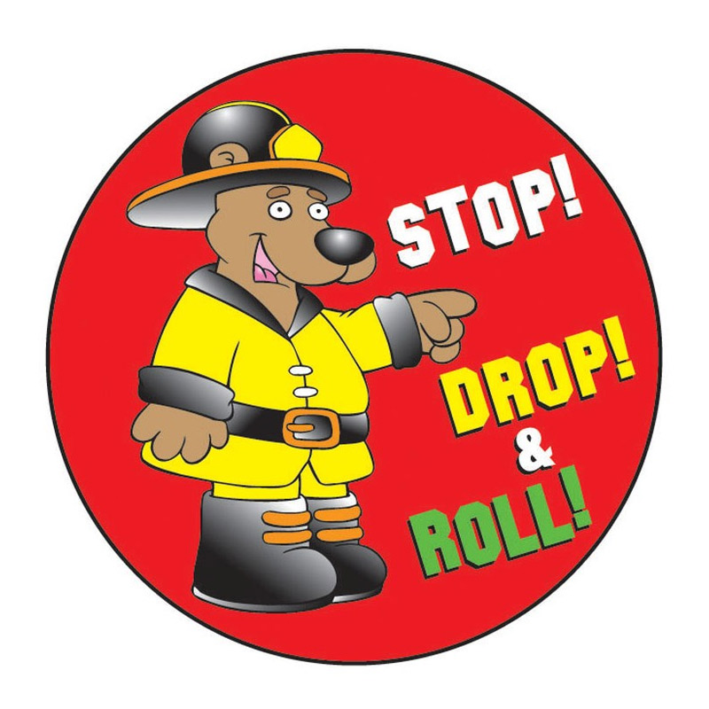 Stop! Drop! Roll! Sticker