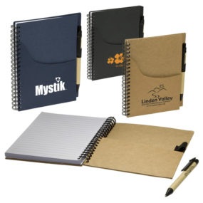 Eco Handy Notebook with Pocket/Pen Combo