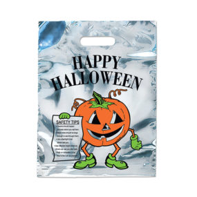 Silver Reflective Pumpkin Halloween Bag