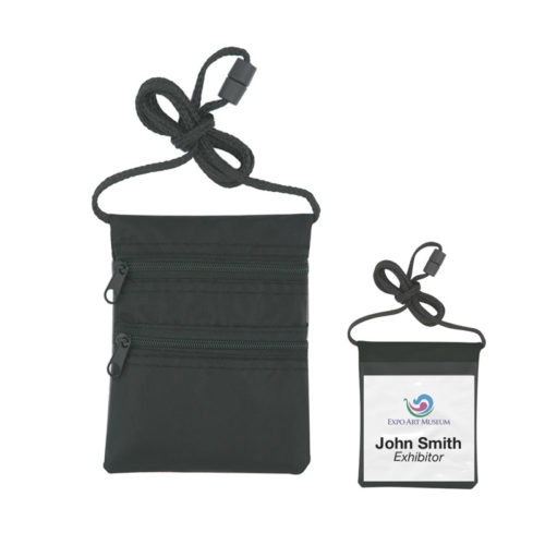 Neck Wallet/Badge Holder With Neck Cord