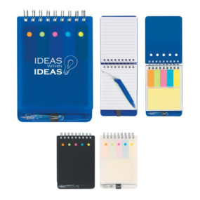 Spiral Jotter with Sticky Notes, Flag and Pen