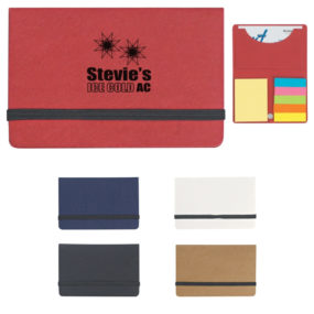 Sticky Notes and Flag in Business Card Case