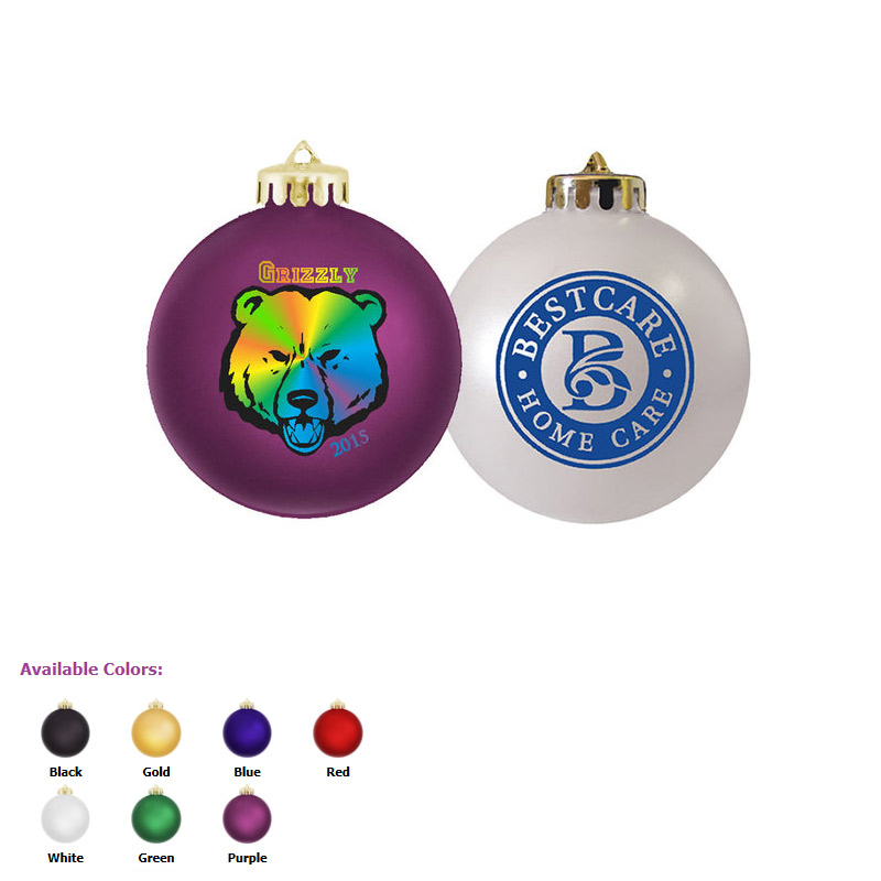 Round Shatterproof Ornament