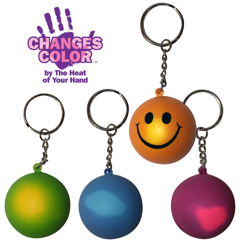 Mood Smiley Face Key Chain