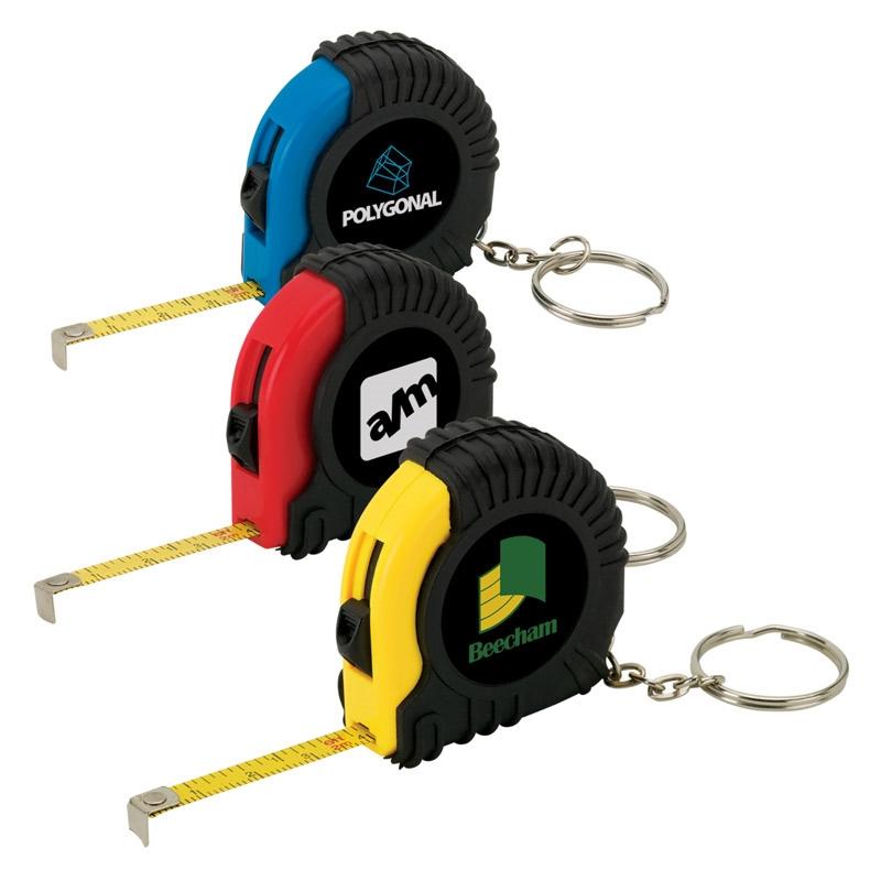 Mini Tape Measure Key Ring