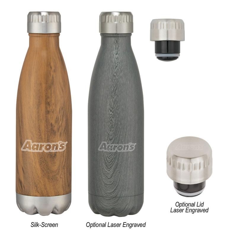 16oz. Swig Stainless Wood-Tone Bottle