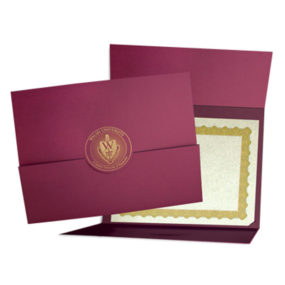 Certificate Cover with Fold-Up Closure