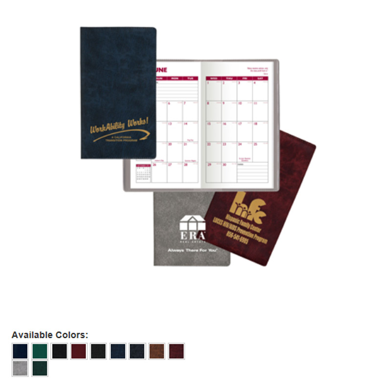 Executive Vinyl Academic Monthly Pocket Planner