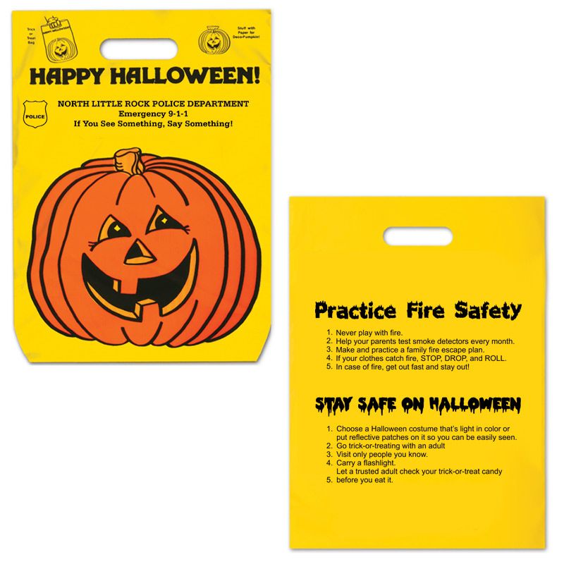 Halloween Bag with Safety Tips