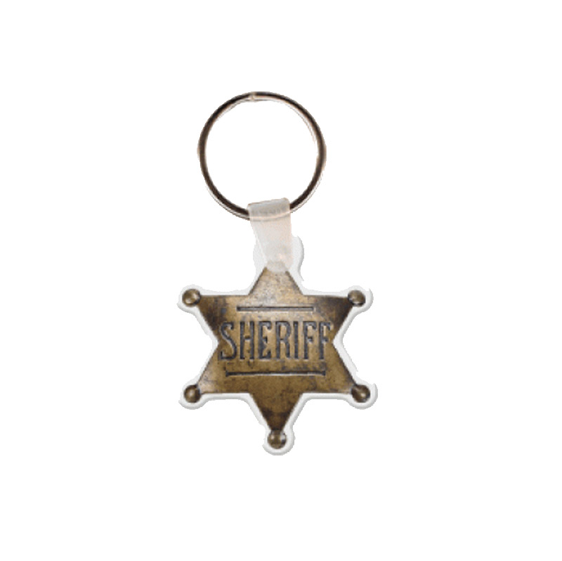 Sheriff's Badge Key Tag