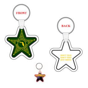 Custom Sheriff Star Key Tag