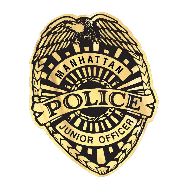 Junior Officer Police Badge Sticker