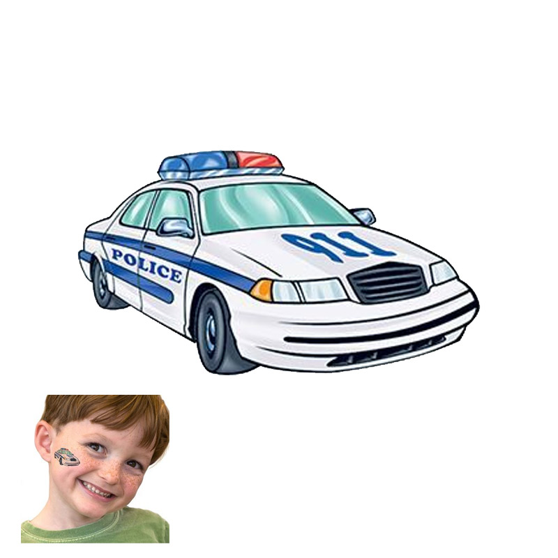 Police Car Tattoo