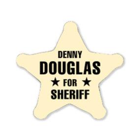Sheriff Star Stickers