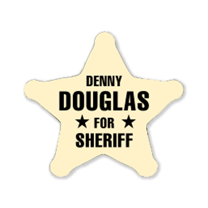Sheriff Star Stickers