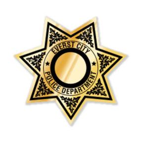 Seven Point Police Sticker