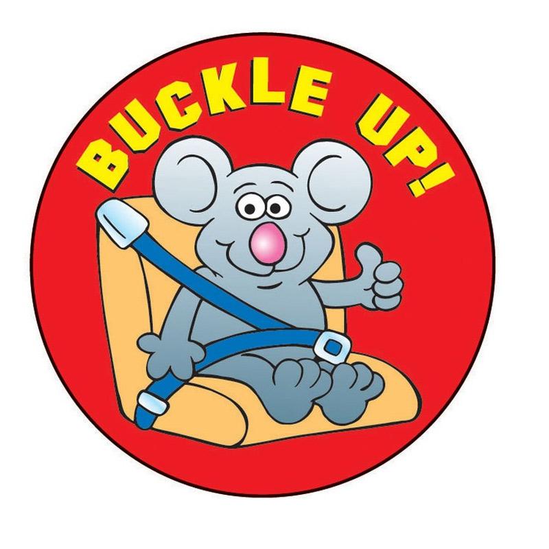 """""""Buckle Up"""" Sticker"""