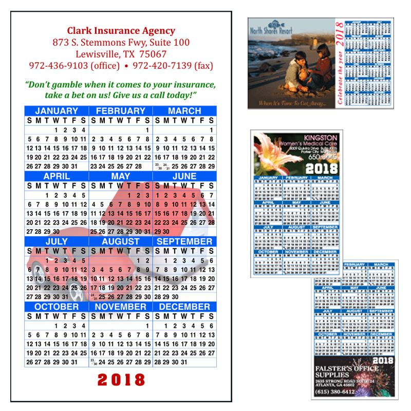 Full Color Calendar Magnets