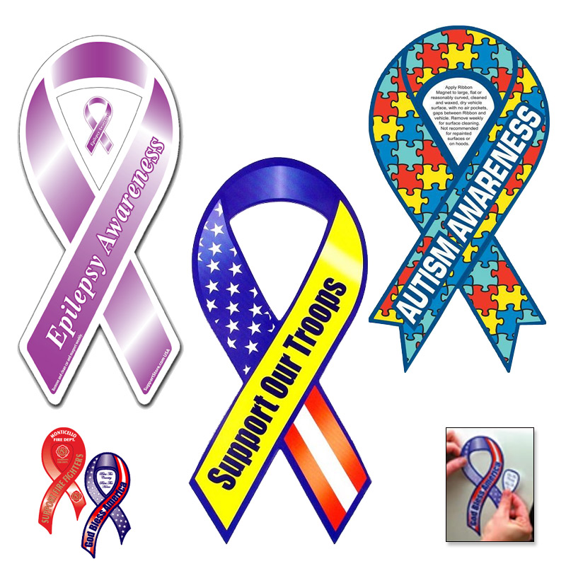Support Ribbon Pop-Out Magnets