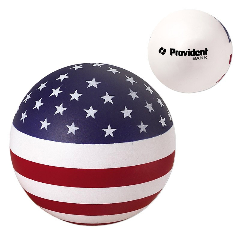 USA Round Ball Stress Reliever