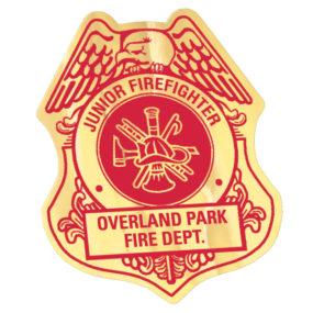 Junior Fire Fighter Badge Sticker