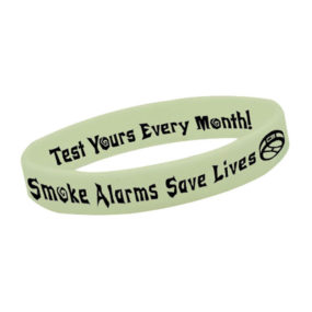 Glow-In-The-Dark Silicone Awareness Bracelets