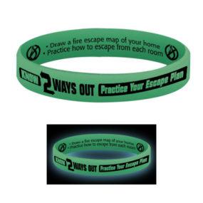Glow-In-The-Dark Silicone Awareness Bracelets