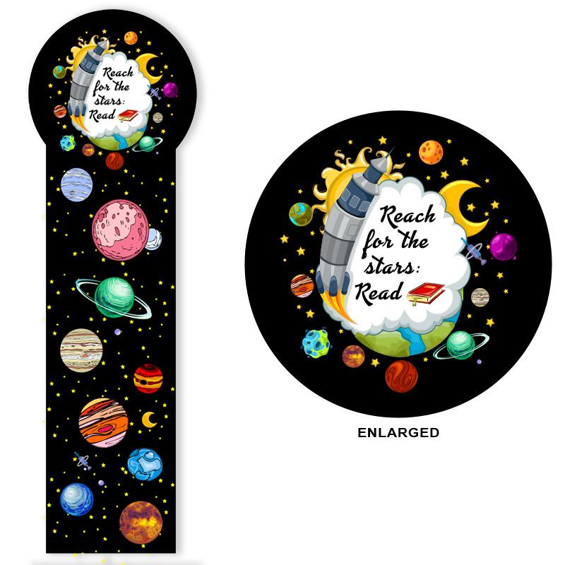 Full Color Circle Top Bookmark